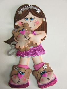 Fofucha Foam Crafts, Diy And Crafts, Crafts For Kids, Paper Dolls, Art Dolls, Rose Garden Design, Operation Christmas Child, Easter Cupcakes, Felt Baby