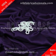 Violet silk charmeuse fabric for women silk wedding dresses. Silk Satin Fabric online in high quality
