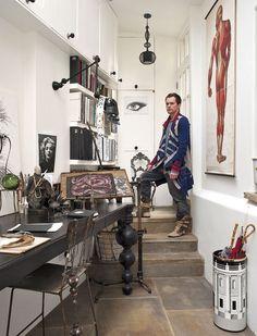 British artist Rory Dobner's London home - via www.murraymitchell.com