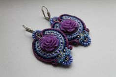 flowers in soutache