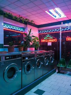Neon lights laundromat at night sci fi aesthetic Neon Aesthetic, Urban Aesthetic, Night Aesthetic, Diner Aesthetic, Violet Aesthetic, Gothic Aesthetic, Music Aesthetic, Aesthetic Beauty, Aesthetic Themes