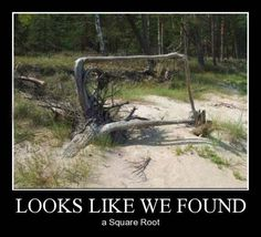 Finally, that square root we've been looking for!