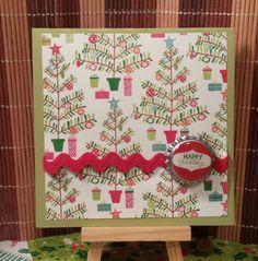 Handmade blank happy holidays with funky by HighlandPoppyCards