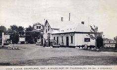 Simon GauthierVéhicules Anciens / Vintage Vehicles (Canada) 3 min ·     Chas. Lucas Courtland Gas Station & Store, Tillsonburg, ONT. - 1944.
