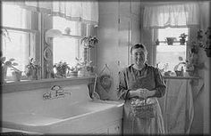 Arthur Rothstein Photographs Great Depression | Mrs. Haubeil in her kitchen of her home, Ross County, Ohio""