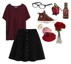 """Little red"" by ariannamarie01 on Polyvore featuring Converse, Zara, Sia and MaxMara"