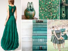 Emerald green wedding inspiration - Pantone Color of the Year 2013