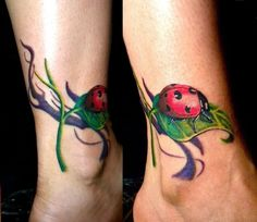 watercolor ladybug butterfly tattoo | Ladybug Tattoos Designs, Ideas and Meaning