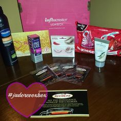 I adore the complimentary #JadoreVoxBox from @InfluensterVox #productreviews @Boots Beauty USA @HERSHEY'S KISSES @John Frieda US @kissnails @Cheryl Parker @Vaseline Review Coming Soon #dedivahdeals