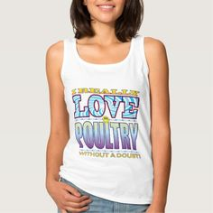 Poultry Love Face Basic Tank Top Tank Tops