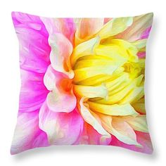 """Dahlia Details 16"""" x 16"""" Throw Pillow by Anna Porter.  Multiple sizes available."""