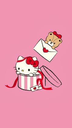 Hello Kitty Art, Hello Kitty My Melody, Hello Kitty Pictures, Hello Hello, Sanrio Wallpaper, Hello Kitty Wallpaper, Bubble Stickers, Picts, Pink Aesthetic