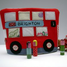 Personalised Red Bus Tea Cosy by samanthastas on Etsy, £28.00