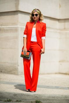 Nasiba Adilova in a Stella McCartney suit, Christian Louboutin shoes #pfw #fall2013 #couture