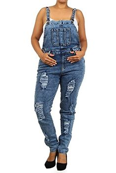 - High Waist Plus Size Acid Wash Ripped Denim Jumper Skinny Overall in Washed Dark Blue Size Denim Jumper, Ripped Denim, Skinny Jeans, Fashionable Plus Size Clothing, Plus Size Pants, Polished Look, Plus Size Outfits, Fashion Forward, Overalls