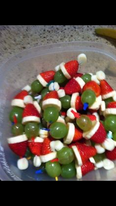 Grinch Santas!!  Healthy Christmas idea!!