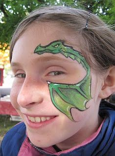 Love this dragon face painting ideas for kids