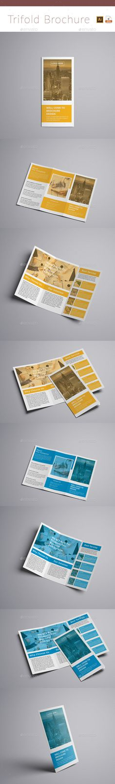 #corporate #Trifold #Brochure #template - #business #Brochures #Print #design. download here: https://graphicriver.net/item/trifold-brochure/19928584?ref=yinkira