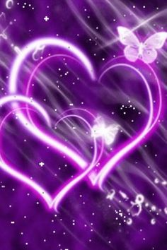 Purple Butterfly Wallpaper | Hearts Purple Butterfly | Android Live Wallpaper Gallery