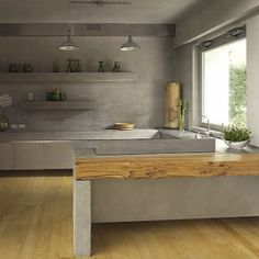 Top 9 Kitchen Design Trends for 2014 and Beyond Just Decorate! Blog concrete_kitchen and countertops