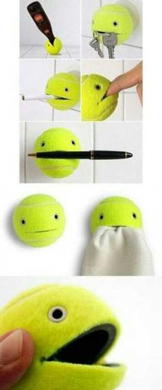 ... Quirky Tennis Ball Holder ...