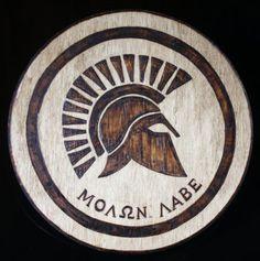 Molon Labe Wood Burning Pyrography Plaque