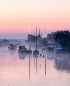 River side dawn, Dorset, England
