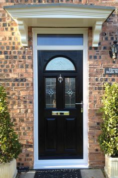 Enhance your home with a fantastic Composite Front Door from Value Doors. Our Black Composite Doors create an effortlessly sleek and sophisticated appearance. Black Composite Front Door, Black Front Doors, Glass Panel Door, Glass Front Door, Front Door Design, Front Door Colors, Traditional Front Doors, House Front Door, Windows And Doors