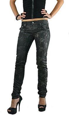 Tripp Women's Hidden Skull Metal Punk Rocker Goth Skinny Jeans (26″)
