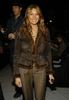 Melania Trump during Olympus Fashion Week Fall 2005 - Vera Wang - Front Row at Bryant Park Tents in New York City, New York, United States. Donald Trump, Donald And Melania Trump, First Lady Melania Trump, Malania Trump, John Trump, Trump Is My President, First Lady Of Usa, First Ladies, Milania Trump Style