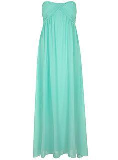 Pale Mint Ruched Maxi Dress - Maxi Dresses   - Dresses