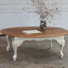 Round White Shabby Chic Coffee Table