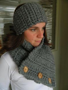 Crocheted Cowl Boston Harbor Cowl Crocheted Scarf by KnottyKneedle