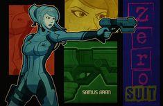 Metroid - Zero Suit Samus by DaveSong.deviantart.com on @DeviantArt