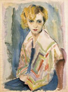Rudolf Schlichter, Speedy, Artist's Wife, 1929 on ArtStack #rudolf-schlichter #art