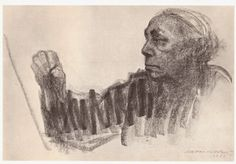 I love this self portrait by Kathe Kollwitz, her arm is rendered like a compressed spring, ready to release.