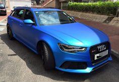 Matte Blue Audi RS6 0 600x416