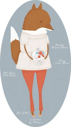 What to Wear: ThanksgivingDinner   Outfit illustrated by me in partnership with @Anthropologie