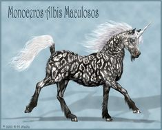 Another rather shaggy unicorn. This one based on a clouded leopard coat pattern. I think this is the last one for a while. I need to take a break from unicorns.