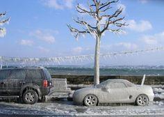 véhicules sous la glace #voiture #automobile #givre #hiver #froid #polaire #glace #glaciale #winter #ice #quartierdesjantes Quartierdesjantes.COM