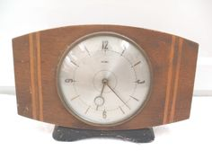Metamec Dereham Inlaid Case Winding Movement Mantle Clock 6 H 9 W 3 D