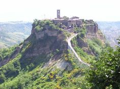 Civita di Bagnoregio is a magical place and poetically it's known as the dying town. It was built built about 2,500 years ago by the Etruscans.