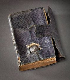 A soldier during the Civil War had his life saved by the Bible in his pocket. He wrote to President Lincoln about it and the President sent him a replacement with the Presidential signature.