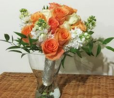 Roses, matthiola and mini ruscus   www.myreika.com