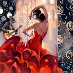 Flamenco painting