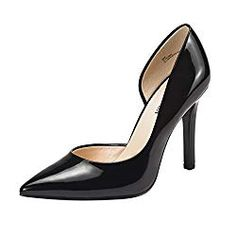 Amazing offer on JENN ARDOR Stiletto High Heel Shoes Women: Pointed, Closed Toe Classic Slip On Dress Pumps online - Getnewofferonline Black High Heels, High Heels Stilettos, Black 7, Women's Pumps, Platform Pumps, Stiletto Shoes, Shoes Heels, Heel Boots, Frauen In High Heels