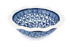 Polish Pottery Olympia Small Scallop Bowl Ceramika Artystyczna http://www.amazon.com/dp/B003TL0AUW/ref=cm_sw_r_pi_dp_iKN-ub15EFY49