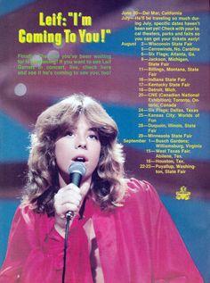 Leif Garrett Summer 1979 tour dates