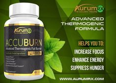 #ACCUBURN: The ingredients used in this formula are based from clinical research that have been tested for optimal results. With a daily servinss of 2 veggie caps you will suppress hunger and increase your metabolism. In addition to the benefit of this fat burner you will also increase your focus and energy. Months of our teams research was done from decades of scientific research for the perfect formulation of safe effective and true weight loss! Clinically Dosed Ingredients. Scientifically…