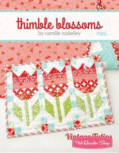 Vintage Tulips MINI Quilt Pattern<BR>Thimble Blossoms